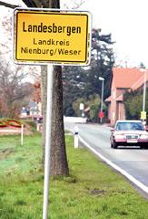 Ortsschild Landesbergen