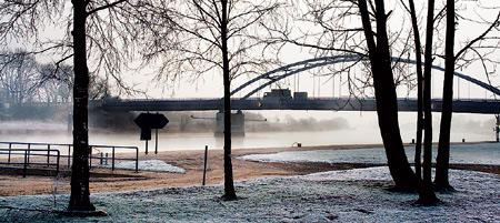 Die Weserbrücke verbindet Stolzenau und Samtgemeinde Landesbergen