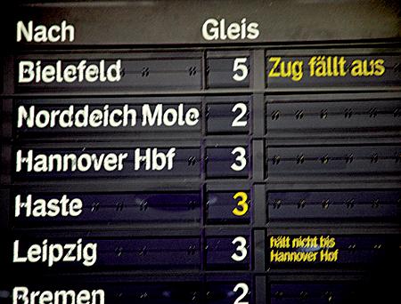 Gleisarbeiten noch bis Sonntag: Busse statt Bahn 25.11.08