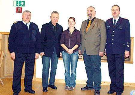Wolfgang Flamme, Klaus Meier, Astrid Behnken, Walter Busse und Andreas Haake