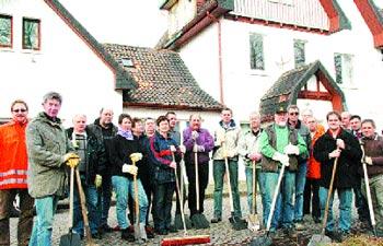Die Teilnehmer der Reinigungsaktion