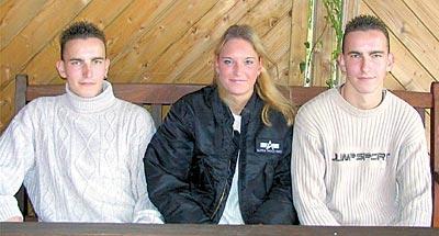 """Marc, Mareike und Marcus (von links) unternehmen vieles gemeinsam. """"Streit gab und gibt es nie"""", erzählt Marcus.Foto: Reckleben-Meyer"""