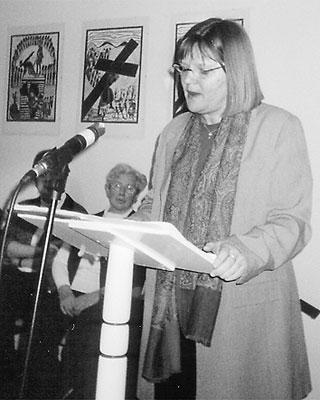 Antje Balters aus Riede sprach beim ersten Frühstück für Frauen in Husum.