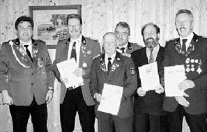 Einige der auf der Jahreshauptversammlung geehrten Husumer Schützen.Foto: privat