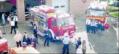 """Beim """"Tag der offenen Tür"""" stellte die Freiwillige Feuerwehr Landesbergen ihre Fahrzeuge und Gerätschaften vor.Foto: Privat"""