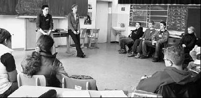 Individualität und Profil sind gefragt: Bewerbungstraining der neunten Klassen der Hauptschule Landesbergen.Foto: privat