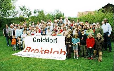 Brokeloh, das Golddorf, präsentiert sich am 29. Mai. Zur Vorbesprechung kam fast das ganze Dorf zusammen. Foto: Hildebrandt