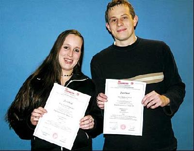 Tanja Friedmann und Markus Princk schulen künftig für die Johanniter Ersthelfer im Landkreis Nienburg.Foto: privat