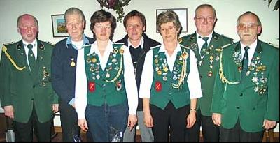 Bei der Jahresversammlung des Schützenvereins Leese wurden wieder viele Mitglieder geehrt.
