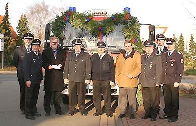 Das neue Fahrzeug der Feuerwehr Leese.Foto: Bittner