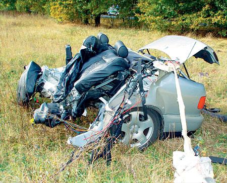 Unfall: Audi A8