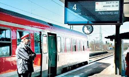 Bahnsteig 4 des Nienburger Bahnhofes