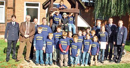 """Die """"Feuerhummeln"""" aus Brokeloh sind die erste Kinderfeuerwehr in der Samtgemeinde Landesbergen"""