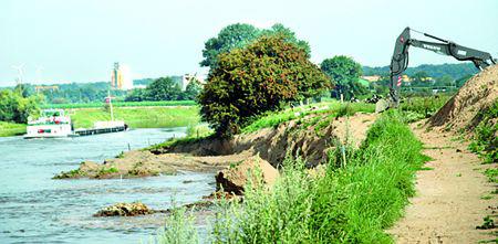 geplantes Kieswerk an der Weser in Estorf