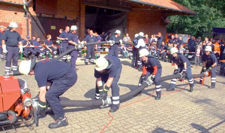 Leeser Feuerwehr gewann die Kuppelwettbewerbe 24.09.08
