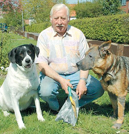 Werner Jonas und seine Hunde