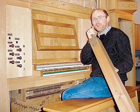 Orgelbauer Jörg Bente
