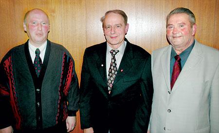Wolfgang Hockemeyer, Günther Feegel und Walter Hotze