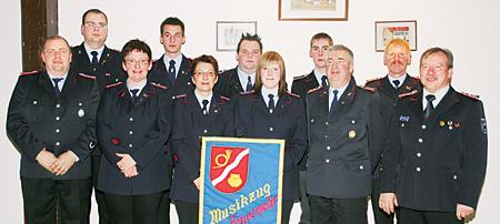 Die Beförderten und Geehrten des Feuerwehrmusikzuges Leese